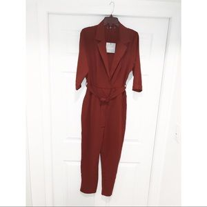 Missguided long sleeve jumpsuit